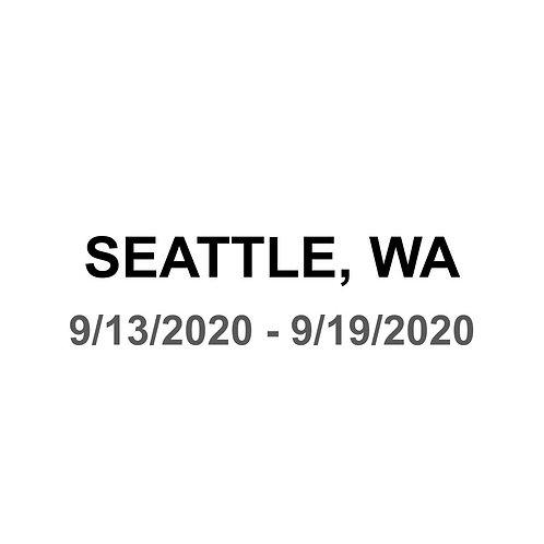 Seattle 9/13 - 9/18