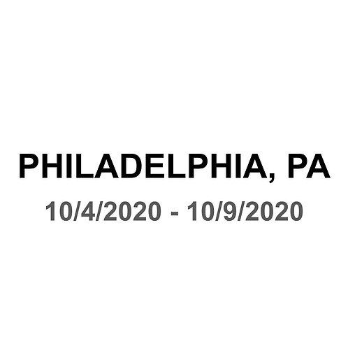 Philadelphia, PA 10/4 - 10/9