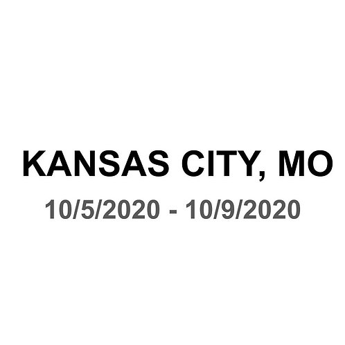 Kansas City, MO 10/5 - 10/9