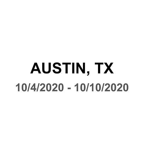 Austin, TX 10/4 - 10/10