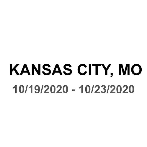 Kansas City, MO 10/19 - 10/23