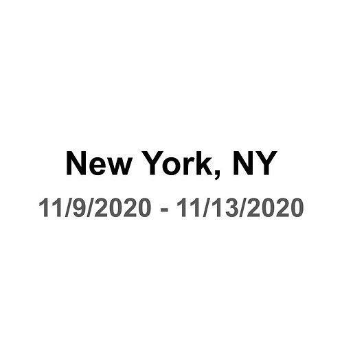 New York City 11/9 - 11/13