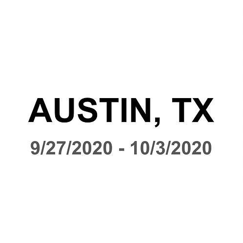 Austin, TX 9/27 - 10/3