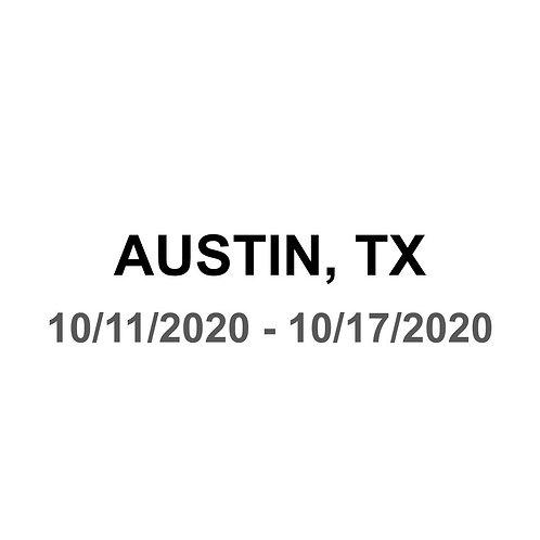 Austin, TX 10/11 - 10/17