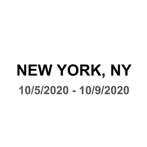 New York, NY 10/5 -10/9