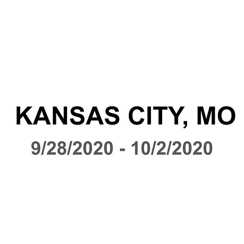 Kansas City, MO 9/28 - 10/2
