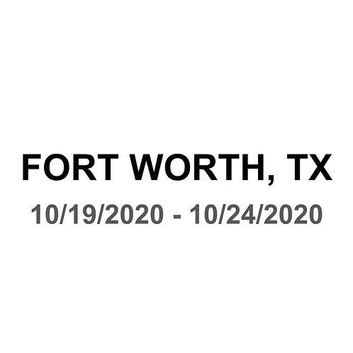 Fort Worth, TX 10/19 - 10/24