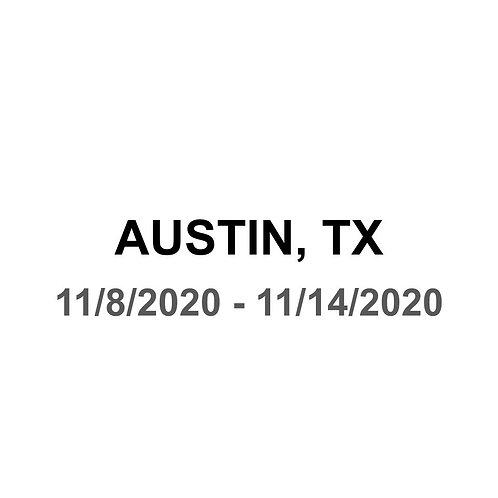 Austin, TX 11/8 - 11/14