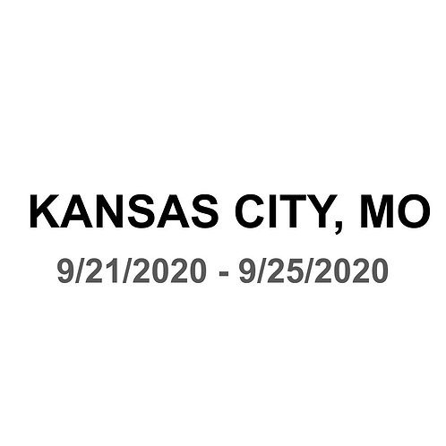 Kansas City, MO 9/21 - 9/25
