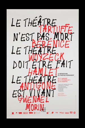 Poster and program for Théâtre Permanent, design by Akatre