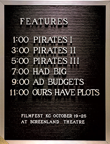 Poster for Filmfest KC, a festival of small independent films.