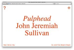 pulphead John Jeremiah Sullivan
