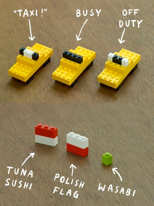 taxi in lego