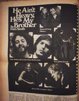 He ain't heavy he is my brother, by Patty Smith