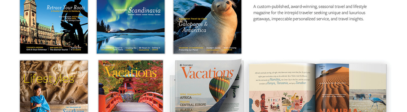 Ensemble Travel Magazines