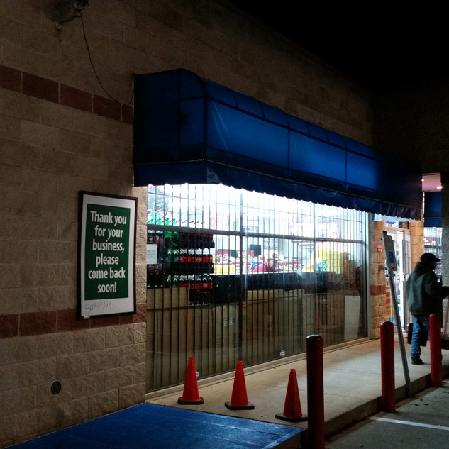 Valero Vinly Awning - Fort Worth,Tx