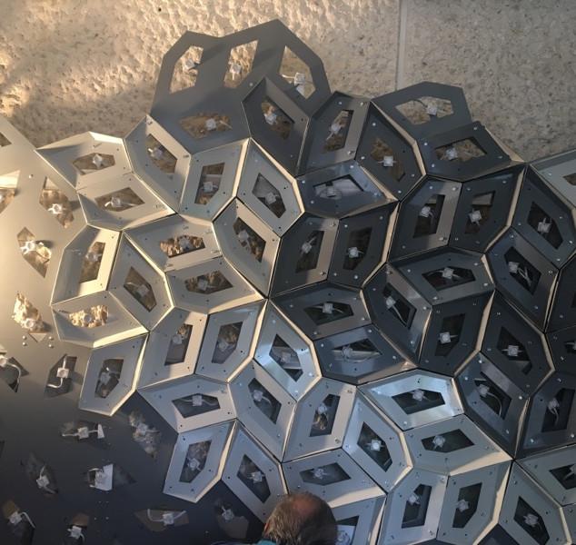 Mexican American Cultural Center Installation of Decorative Piece - Austin,Tx