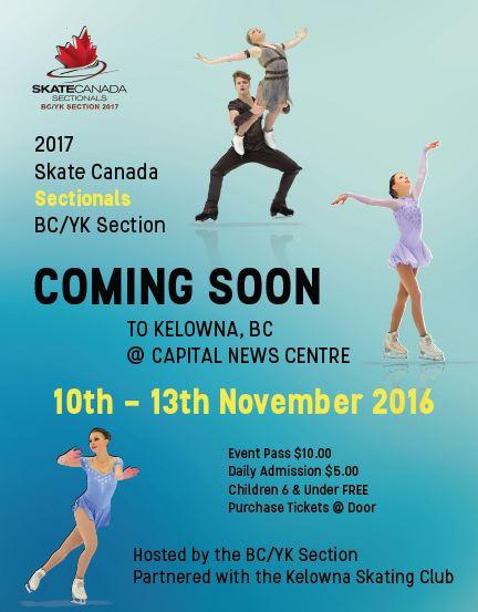 Kelowna Skating Club to Host 2017 Skate Canada BC/YK Section Championships/Super Series Final