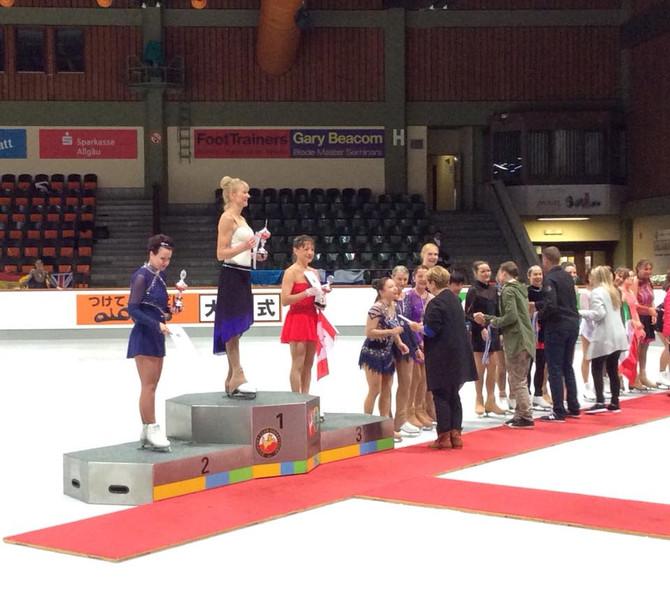 Isabella Ciocoiu Wins 2 Medals at the ISU Adult Competition in Oberstdorf