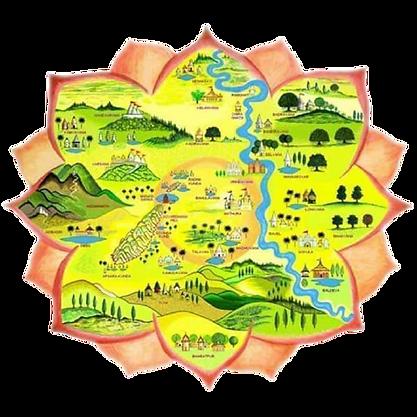 Braj 84 kos yatra Map