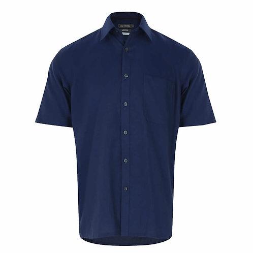 VAN HEISEN Short Sleeve Wrinkle Free Shirt