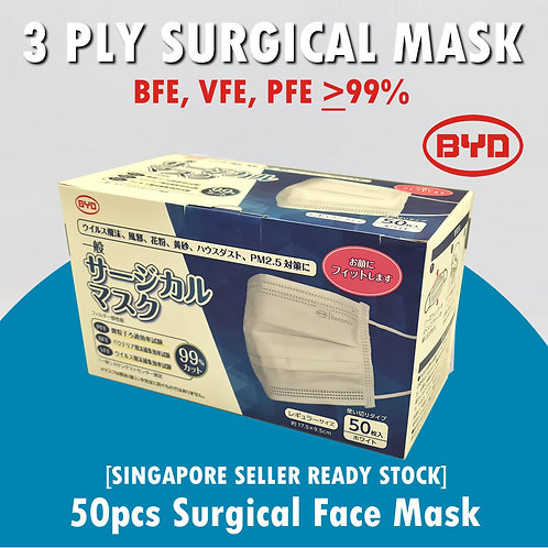 BYD Single-use 3-Ply Surgical Mask(50pcs)