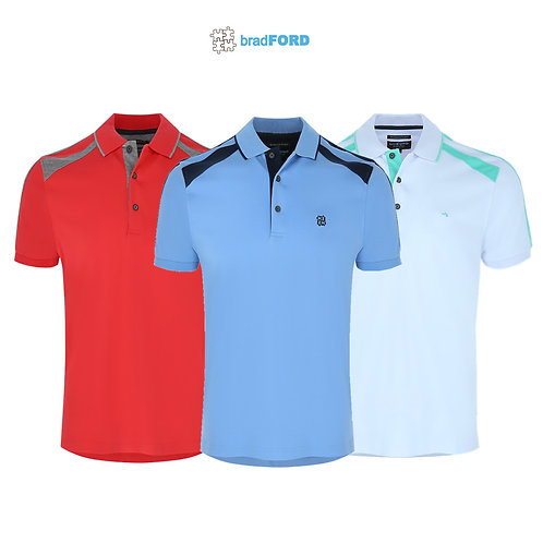 bradFORD Polo Shirt Interlock Fabric