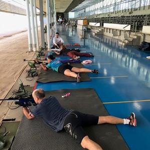 Autumn biathlon training