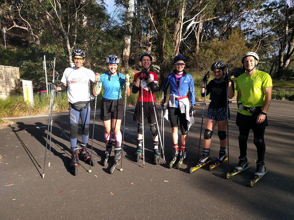Biathlon training in Sydney