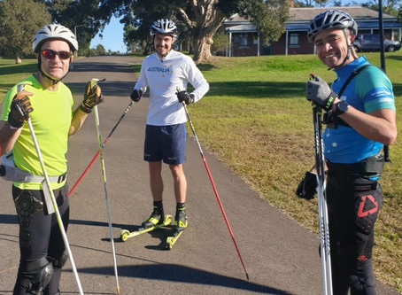 Rollerski training with Alex Almoukov