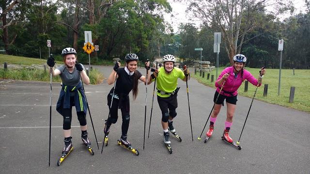 Roller ski training in Sydney
