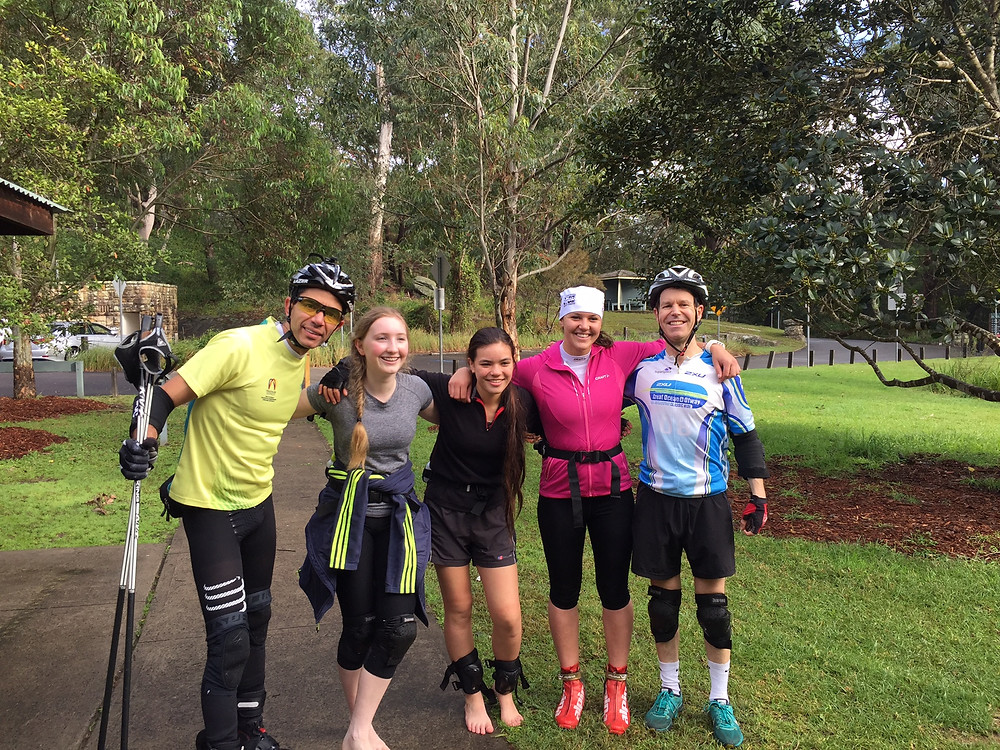 Biathlon training in Sydney