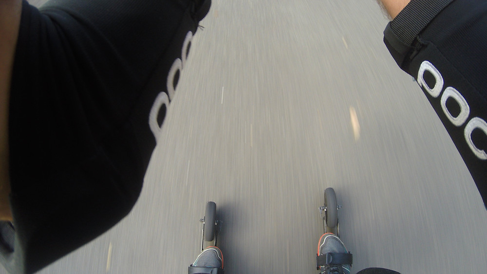 point of view roller skiing
