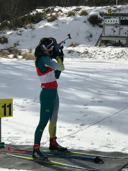 Taking rifle off back 5