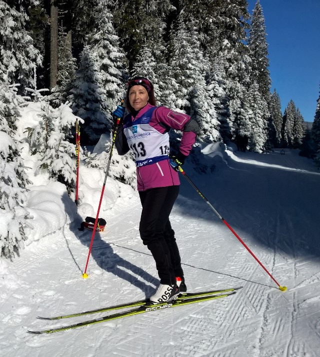 Competing in the World Masters Biathlon Championship