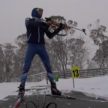 biathlon skiing and training at Mt Hotham,