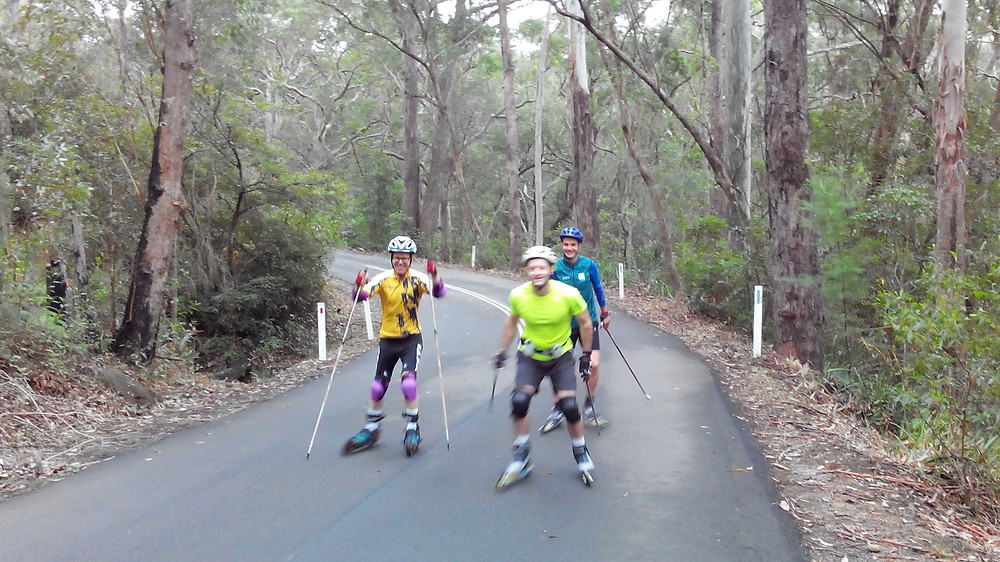 Roller skiing in Sydney, Australia