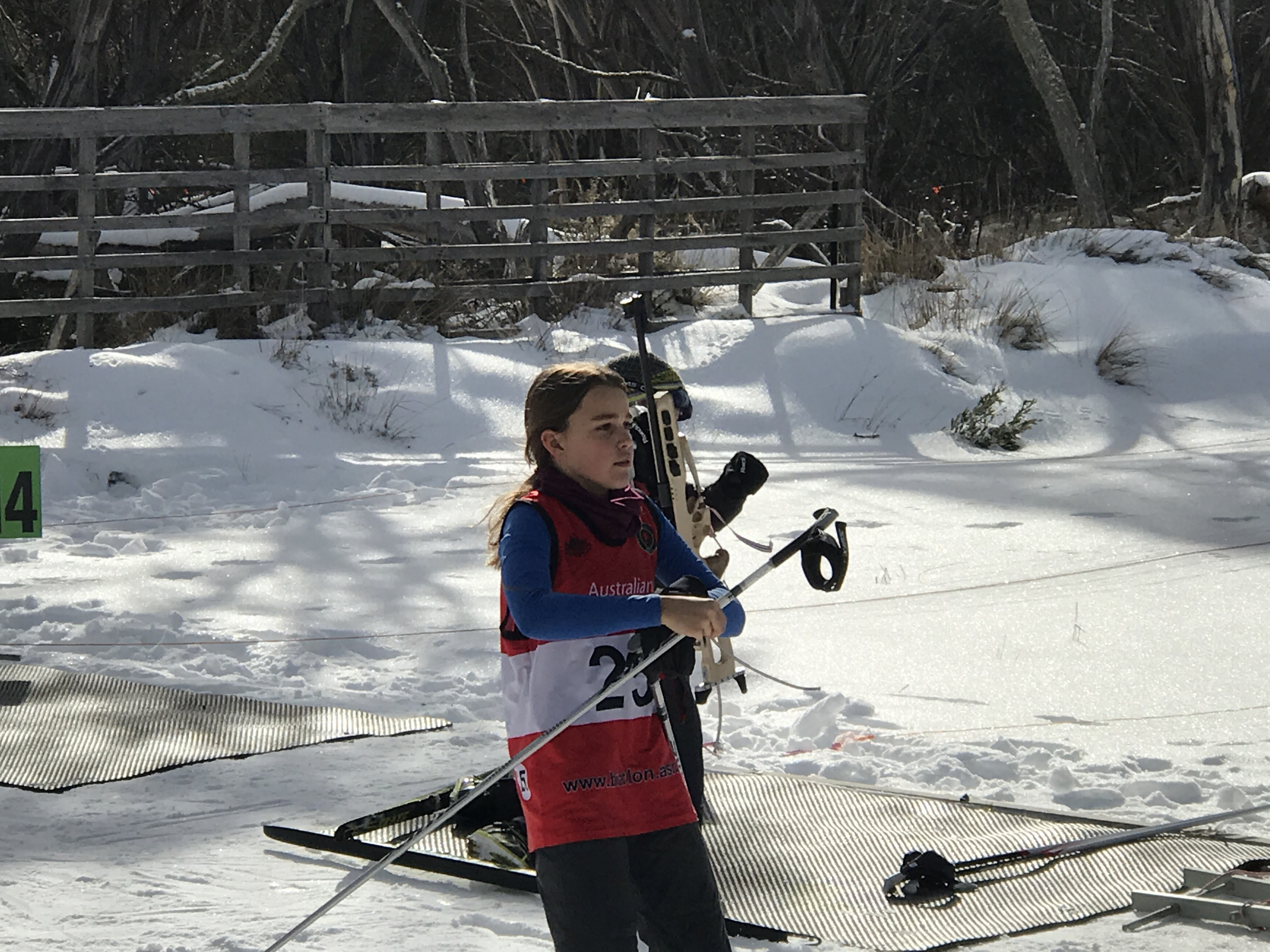 isabelle skiing into the range 2