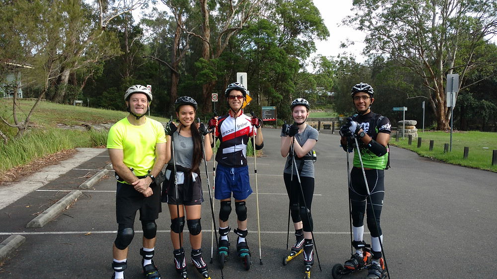 Roller skiing in Sydney