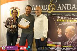 Con Ferrer Ferran y Marysabel Tolosa