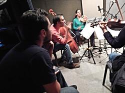 Grabación 4 piezas para Cuarteto