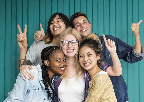 Diversity Students Friends Happiness Pose Concept.jpg