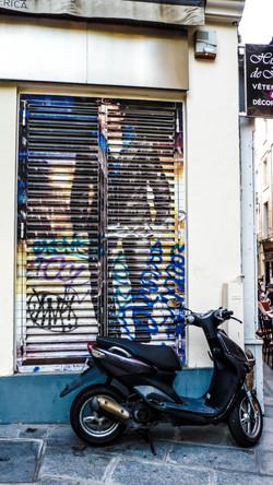 Graffiti Bike, Paris, France