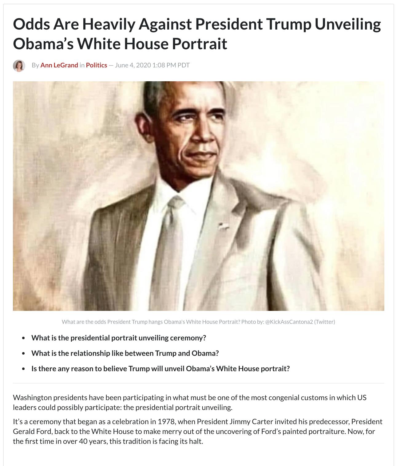 Unveiling Obama