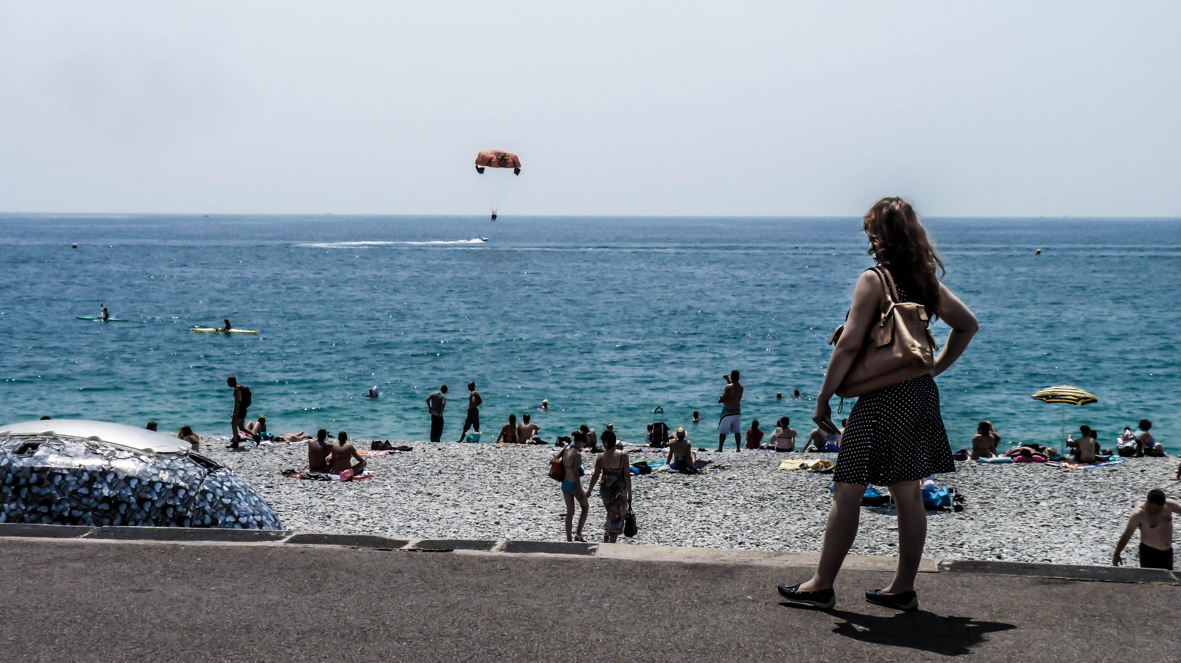 Niki à la plage, Nice, France