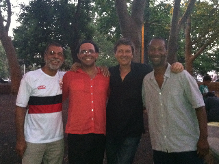With Cidinho Teixeira, Nanny Assis, and Greg Jones