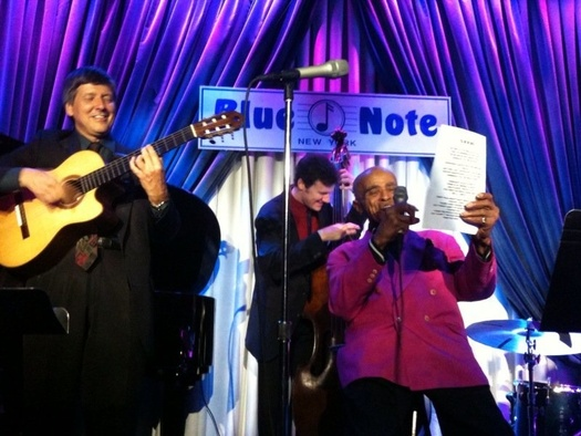 With Jon Hendricks at the Blue Note NYC