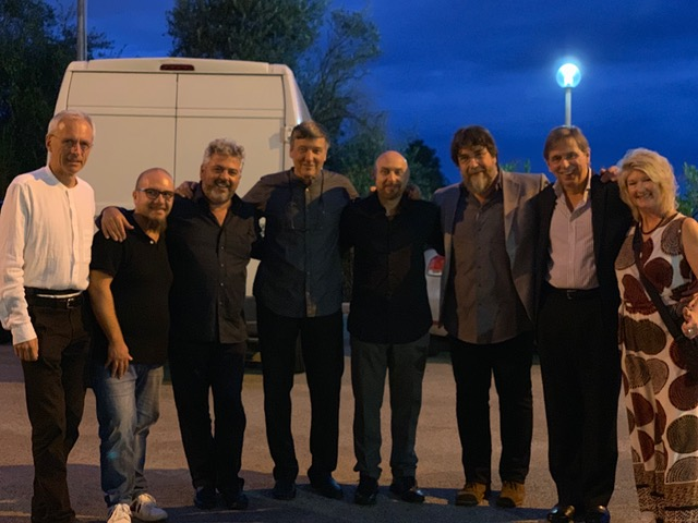 In Bari, Italy, with the great musicians at Il Pentagrama - left to right - Renato Chicco Paulo Magn