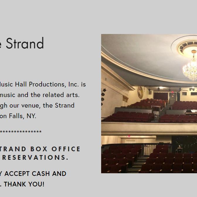 The Strand Theatre 2021 Concert Series