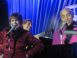 With Jon Hendricks and Annie Ross at the Blue Note NYC